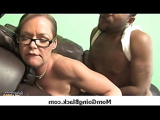Horny hot mommy getting ass fucked in interracial sex