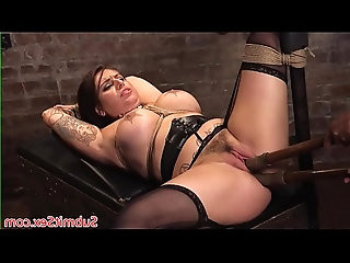 Chubby bdsm slut pussy licked and fucked before toying