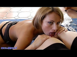 Classy milf pussylicked in threesome