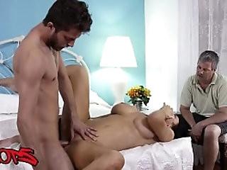 Horny MILF Raegan Foxx cuckolds hubby with younger stud