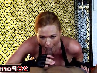 UFC Armbar Turns Into Sloppy Blowjob Krissy Lynn