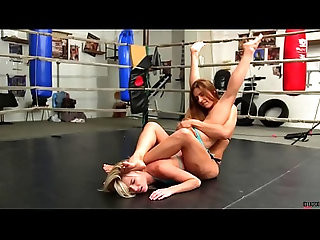 Foot Smother School Girl Pin Female Wrestling Humiliation