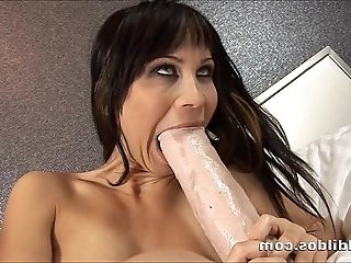 Russian slut Sonia fills her pussy and ass with a brutal dildo