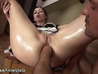 skinny housewife gets brutal ass fisted