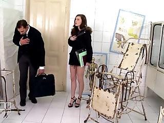 Secretary Mish Cross gets anal creampie BDSM style