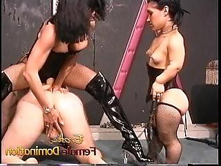 Two kinky sluts enjoy fucking horny well hung stud