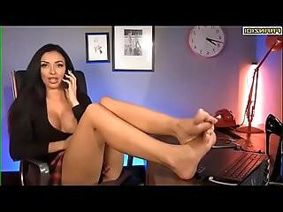 Big Tit Secretary Shoeplay Barefoot