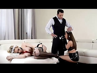 Teen Dominatrix Fucks French Maid with Step Father