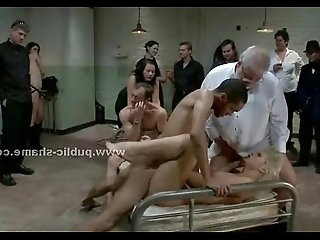Blonde forced to fuck and suck cocks