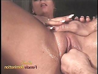 Ravishing honey Kimberly has her body covered in wax before being nailed
