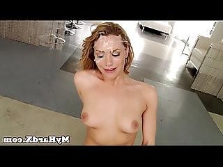 Gonzo pornstar bukkake drenched