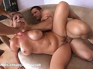 Hardcore blonde with massive tits and a giant ass