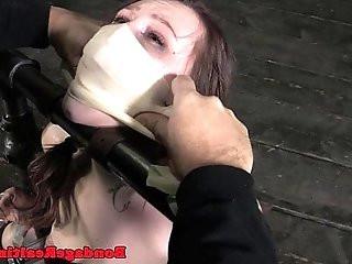 BDSM sub Mollie Rose breath play