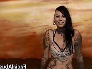 new Tatted freak slut Tank rough fucking and DP