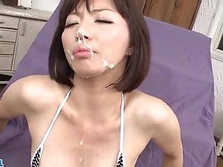 Izumi Manaka needy mommy loves cum on face