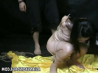 Bound bitch is bdsm treated and humiliated by the master