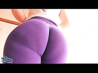 Best Ass Ever! In Tight Spandex! Huge Ass Latina Cameltoe!