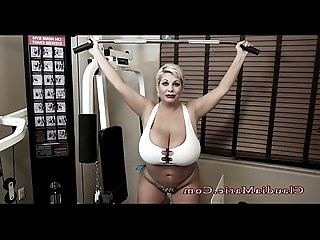 Claudia Marie Huge natural Tits Gym
